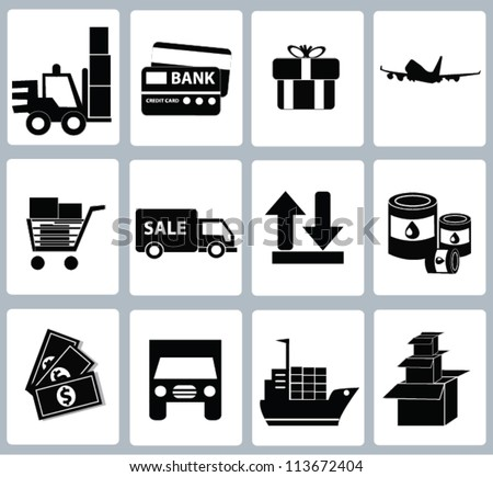 Logistics Icon set,and resource,Vector - stock vector