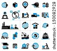 Logistics icons - stock photo