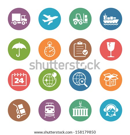 Logistics Icons - Dot Series - stock vector