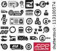 Logistics icons. Logistic company signs. - stock photo