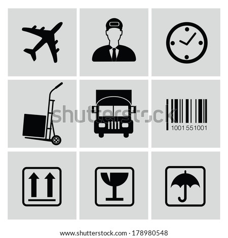 Logistics icons,vector - stock vector