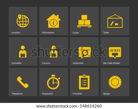 Logistics icons. Vector illustration. - stock vector
