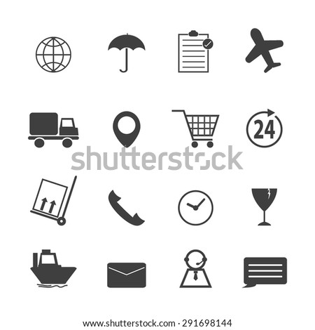 Logistics shipping icons - stock vector
