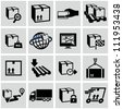 Logistics shipping icons set. - stock photo