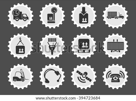 Logistics  simply symbols for web and user interface - stock vector