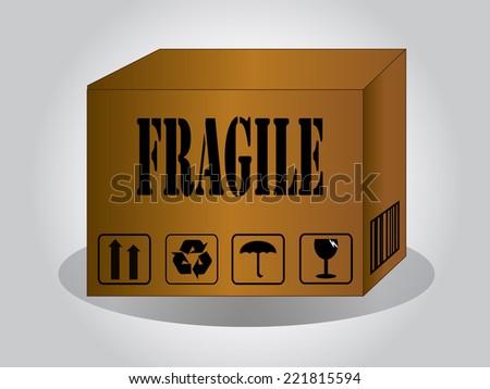 Logistics technology concept,logistic box,fragile box - stock vector