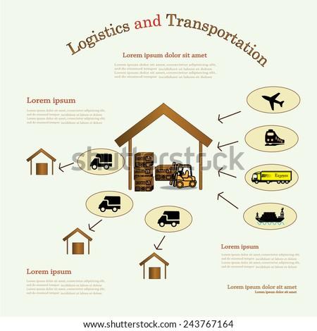 Logistics technology concept,logistics connection on  background - stock vector