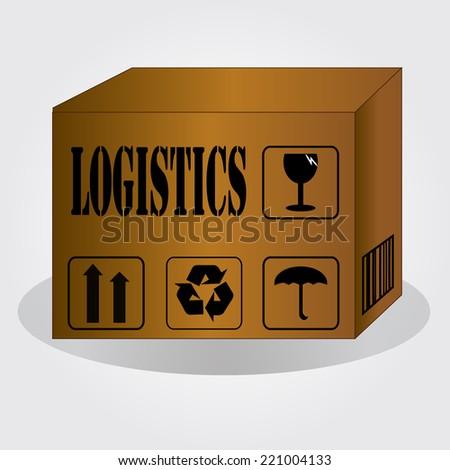 Logistics technology concept,logistics connection on world map vector