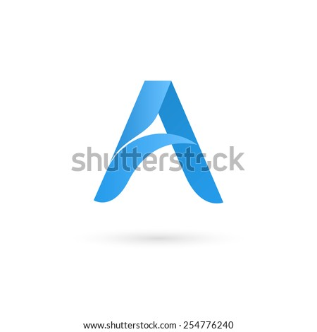 Logo A letter. Isolated on white background. Vector illustration, eps 10. - stock vector