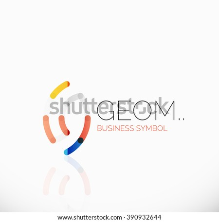 Logo, abstract linear geometric business icon