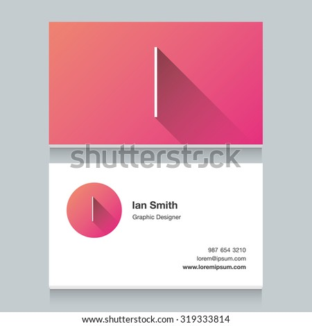 """Logo alphabet letter """"I"""", with business card template. Vector graphic design elements for your company logo. - stock vector"""
