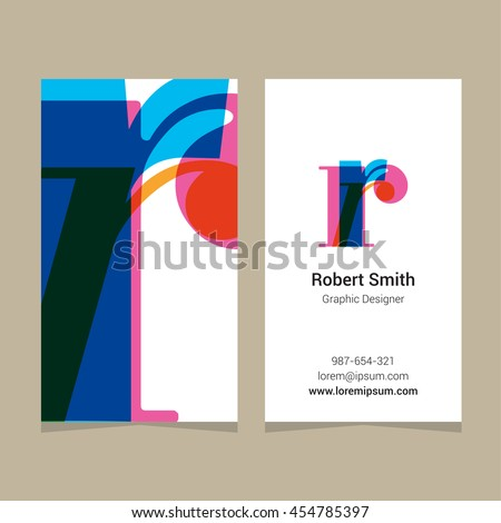 With business card template vector graphic design elements for