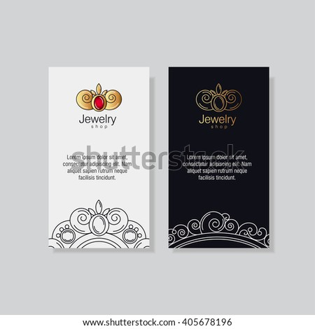 Logo business card templates jeweler workshop stock vector royalty logo and business card templates for the jeweler workshop goldsmith jewelry store gold vintage reheart
