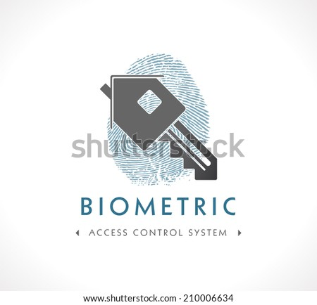 Logo - Biometric Access Control System - stock vector