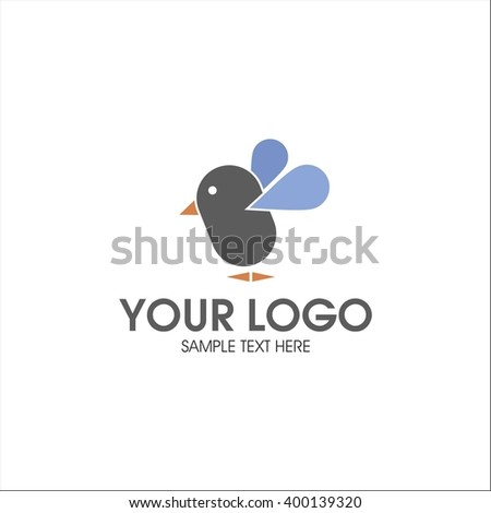 Logo bird - stock vector