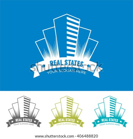 Logo business real state skyscrape symbol / icon isolated, building. Template