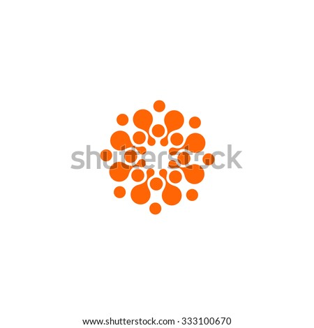 Logo. Circle. Abstract. Vector illustration. - stock vector