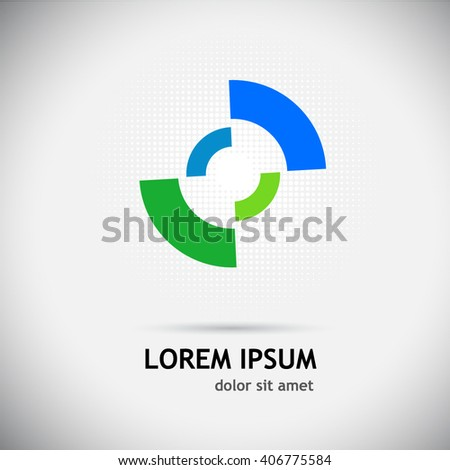 Logo circle color. Vector - stock vector
