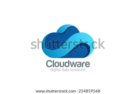 Logo Cloud computing design vector template.  Data storage transfer upload download web Logotype icon. Internet Business concept  - stock vector