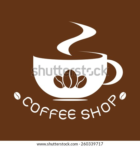 logo coffee, vector cup cafe