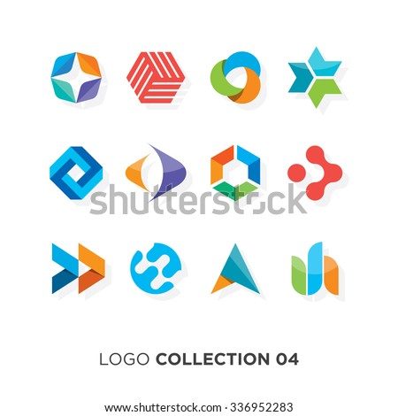 Logo collection 06. Vector graphic design elements for company logo.