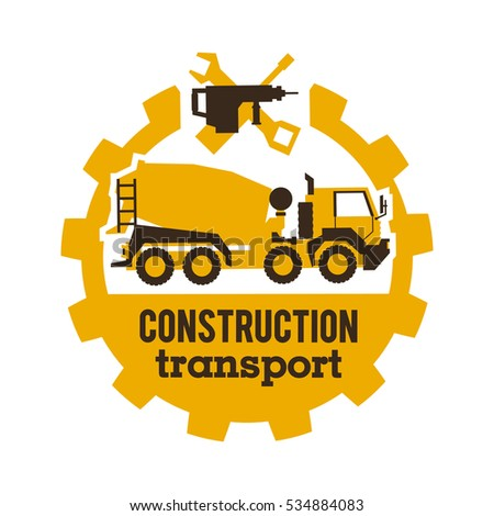 logo concrete mixers construction vehicles special equipment truck the tool for the