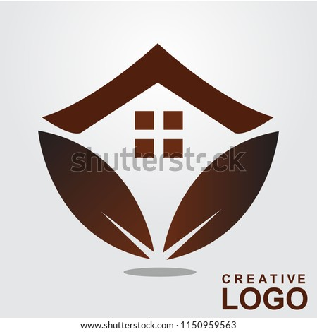 Logo Creative Home Property Concept with color black, brown