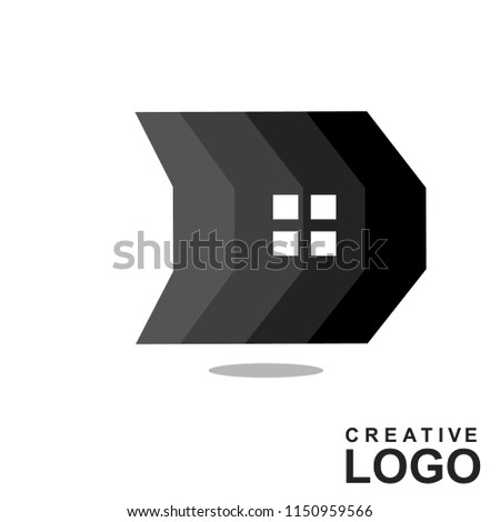 Logo Creative Home Property Concept with color black , grey