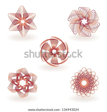 Logo design abstract elements - stock vector