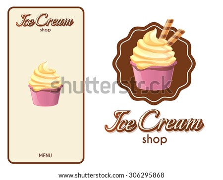Logo design element. Ice Cream Shop. - stock vector