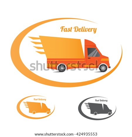 Logo design element business card template stock vector 424935553 logo design element with business card template truck delivery fast vector illustration reheart Images