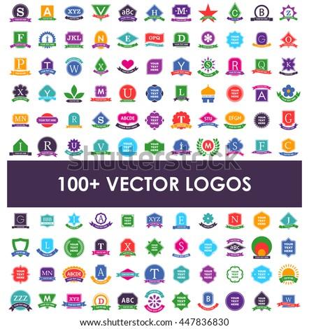 Logo design elements. - stock vector
