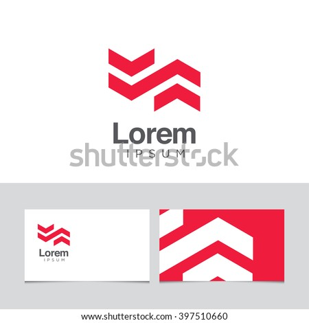 Logo design elements with business card template. Vector graphic design elements for company logo. - stock vector