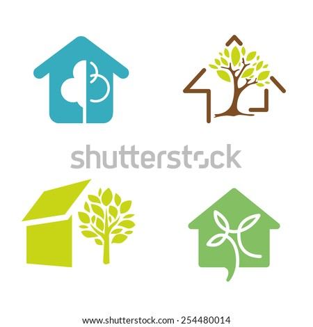 logo design for green house concept - stock vector