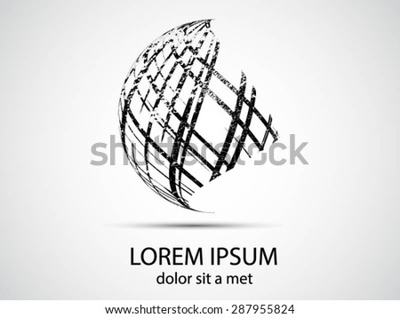 Logo design. Round shape. Vector illustration