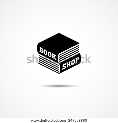 Logo design template in the form of two books lying on each other. Vector illustration. - stock vector