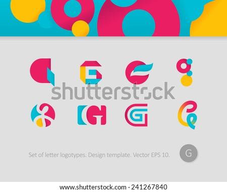 Logo design templates stylized letter g stock vector 241267840 logo design templates stylized letter g spiritdancerdesigns Choice Image