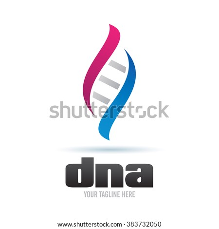 Logo DNA Icon Element Template Design Logos - stock vector