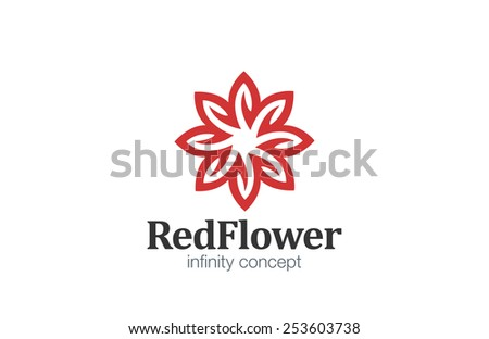 Logo Flower abstract infinity loop design vector template. Star Logotype infinite looped shape concept icon. - stock vector