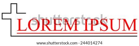 Logo for Church. Symbol of Christianity - stock vector