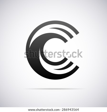 Logo for letter C. Design template