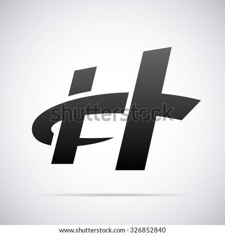Logo for letter H. Design template