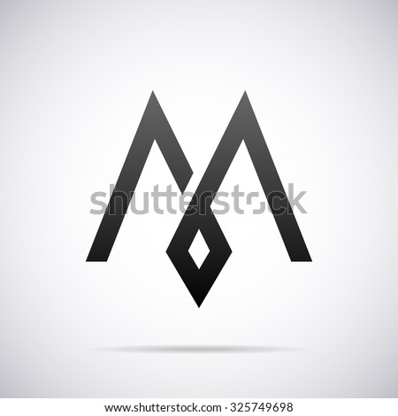 Logo for letter M. Design template
