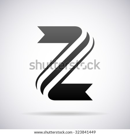 Cool Letter Z Design Logo Letter Z Design Template Stockvektorgrafik