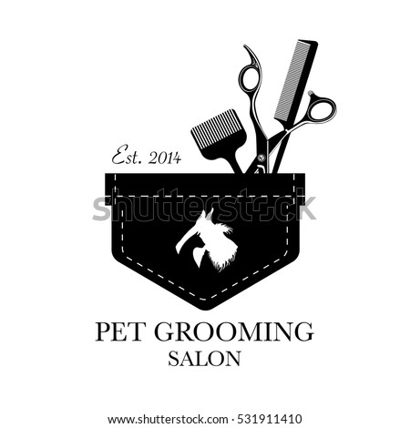 Pet Grooming Logo Stock Images, Royalty-Free Images & Vectors ...