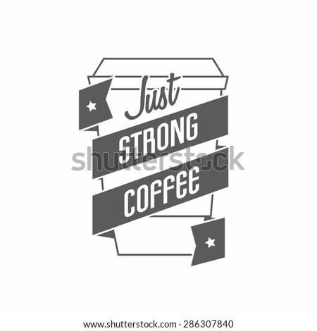 logo for restaurant, cafe, bar, coffee house. On white background - stock vector