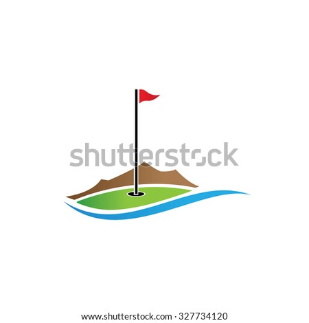logo golf club, golf championship, golf tournament. - stock vector