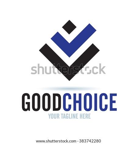 Logo Good Choice Icon Element Template Design Logos - stock vector