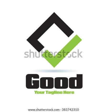 Logo Good Yes Icon Element Template Design Logos - stock vector