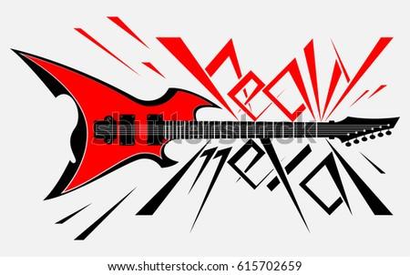 logo hard electronic guitar style heavy stock vector 615702659 rh shutterstock com